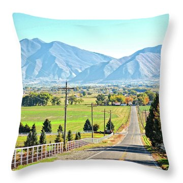 Looking East From West Mountain Throw Pillow