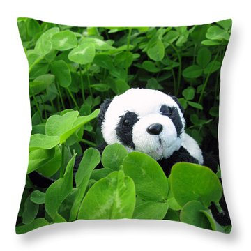 Throw Pillow featuring the photograph Looking For A Lucky Clover by Ausra Huntington nee Paulauskaite