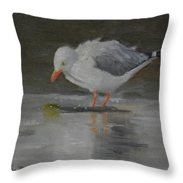 Looking For Scraps Throw Pillow
