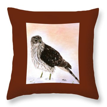 Looking For Breakfast Throw Pillow by Angela Davies
