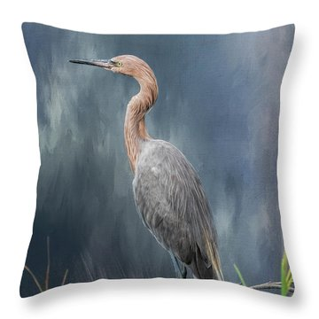Throw Pillow featuring the photograph Looking For Food by Kim Hojnacki