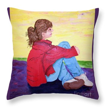 Looking For Hope Throw Pillow