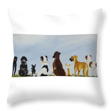 Looking For Our Forever Home Throw Pillow