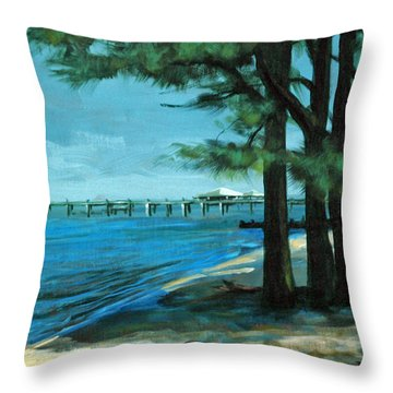Throw Pillow featuring the painting Looking For Shade by Suzanne McKee