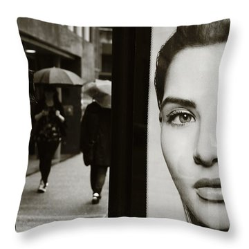 Throw Pillow featuring the photograph Looking For Your Eyes by Empty Wall