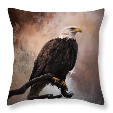 Looking Forward - Eagle Art Throw Pillow