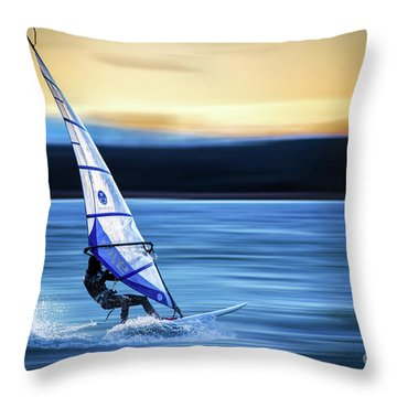Throw Pillow featuring the photograph Looking Forward by Hannes Cmarits