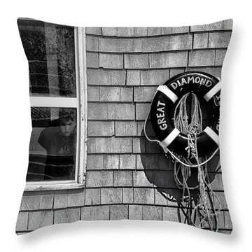 Looking In - Looking Out Throw Pillow by Richard Bean
