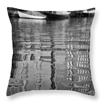 Looking In The Water Throw Pillow