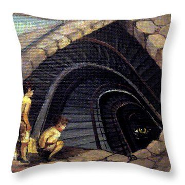 Looking Into Abyss Throw Pillow