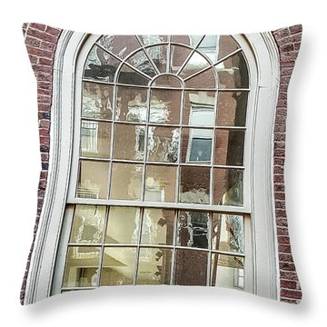 Looking Into History Throw Pillow