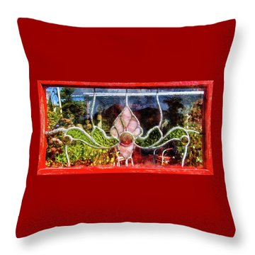 Throw Pillow featuring the photograph Looking Into The Garden by Thom Zehrfeld