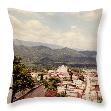 Throw Pillow featuring the photograph Looking Out by Charles McKelroy