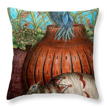 Looking Out For Each Other Throw Pillow