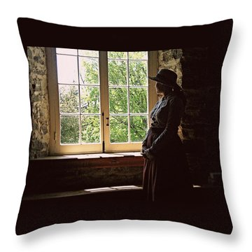 Looking Out Of The Window Throw Pillow