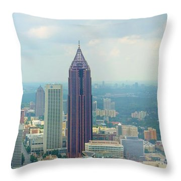 Throw Pillow featuring the photograph Looking Out Over Atlanta by Mike McGlothlen