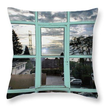 Throw Pillow featuring the photograph Looking Out The Window by Bill Thomson