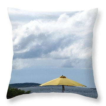 Looking Out To Sea Throw Pillow