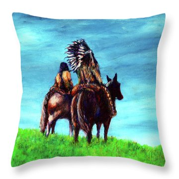 Looking Over Our Domain Throw Pillow