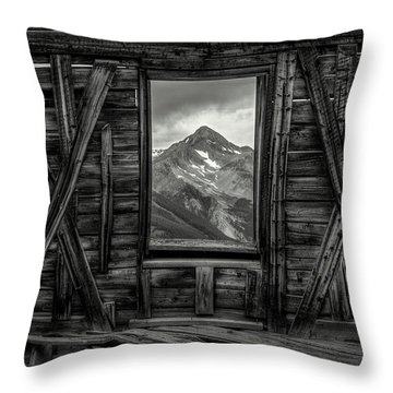 Looking Past Black And White Throw Pillow