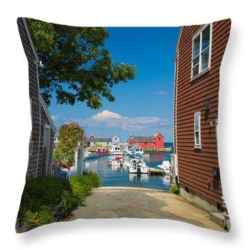 Looking Rockport Throw Pillow by Emmanuel Panagiotakis