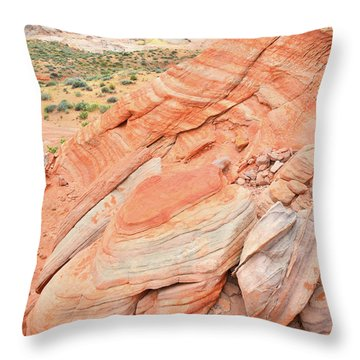 Throw Pillow featuring the photograph Looking South In Valley Of Fire by Ray Mathis