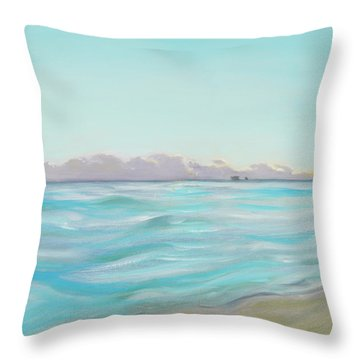 Looking South Tryptic Part 2 Throw Pillow