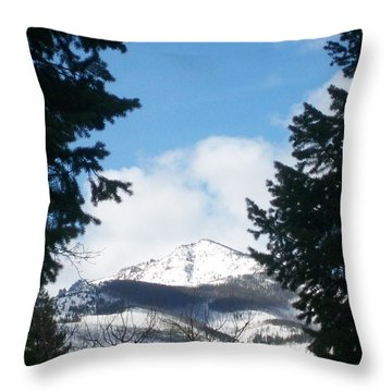 Looking Through Throw Pillow