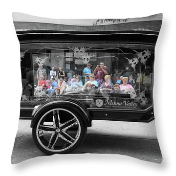 Looking Through The Glass Carriage Throw Pillow