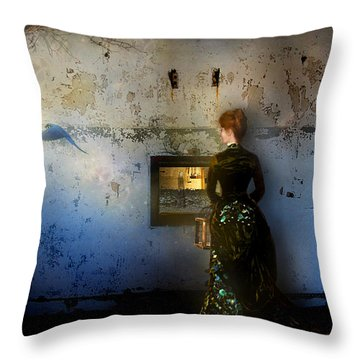 Looking Through The Past To The Future Throw Pillow by Carrie Jackson