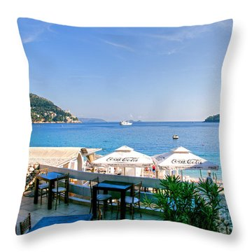 Looking To Dine Out Throw Pillow