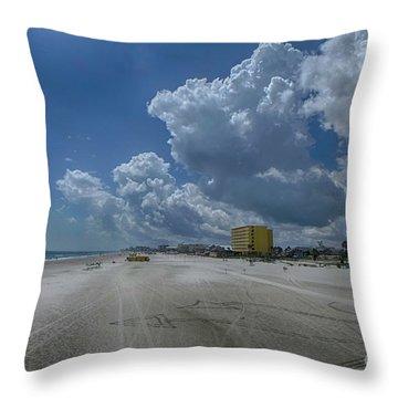 Looking Toward Daytona Beach Shores Throw Pillow by Judy Hall-Folde