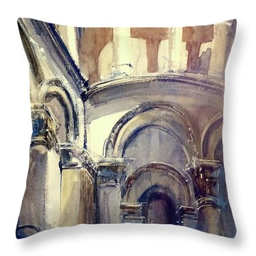 Looking Up At Lucca Throw Pillow