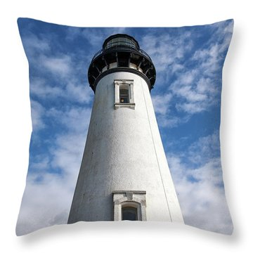 Throw Pillow featuring the photograph Looking Up At The Lighthouse by Mary Jo Allen