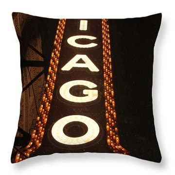 Looking Up Chicago Throw Pillow by Lauri Novak