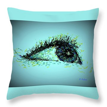 Looking Up Throw Pillow by Denise Fulmer