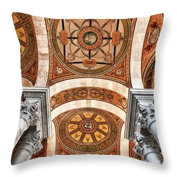 Looking Up Throw Pillow by Janet Fikar