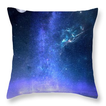 Throw Pillow featuring the painting Looking Up by Mark Taylor