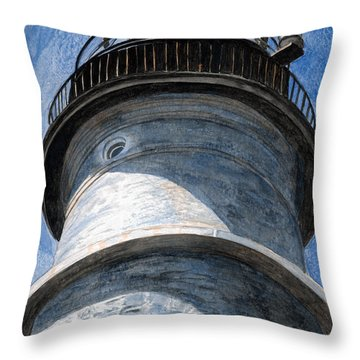 Looking Up Portland Head Light Throw Pillow