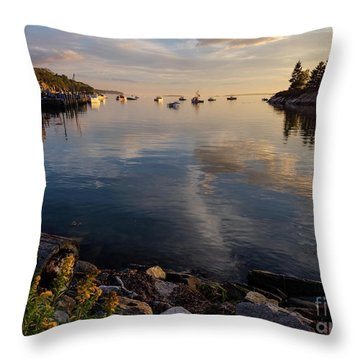 Throw Pillow featuring the photograph Lookout Point, Harpswell, Maine  -99044-990477 by John Bald