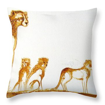 Lookout Post - Original Artwork Throw Pillow