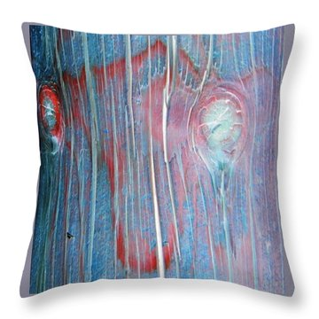 Looks Like A Steer In The Headlights Throw Pillow by Lenore Senior