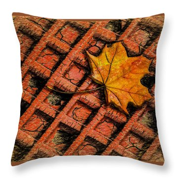 Looks Like Another Leaf Throw Pillow by Paul Wear