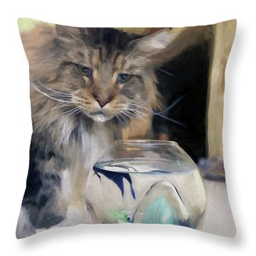Look's Like Dinner's Just About Ready. Throw Pillow by James Steele