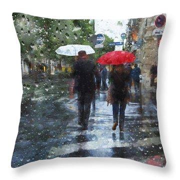 Looks Like Rain Throw Pillow