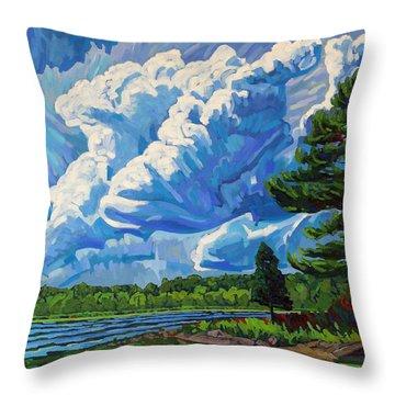 Looks Like Thunder Throw Pillow
