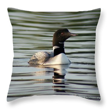 Loon 1 Throw Pillow by Steven Clipperton