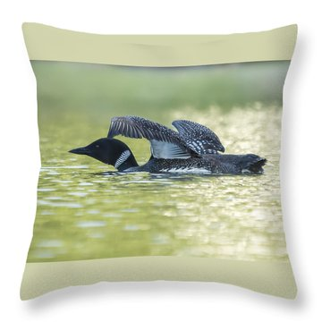Loon 5 Throw Pillow