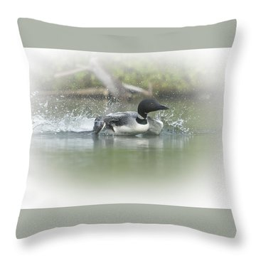 Loon 6 Throw Pillow
