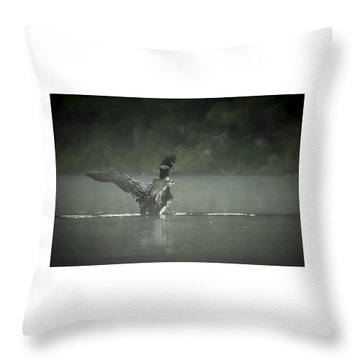 Loon 7 Throw Pillow
